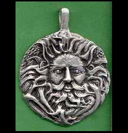 Greek Mythology Greenman Pendant