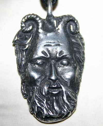 Celtic Myth Herne God Pentagram Pendant