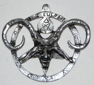 Lucifer Goat Baphomet Inverted Pentagram Pendant