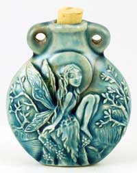 Wiccan Tree Fairy Raku Oil Bottle Pendant