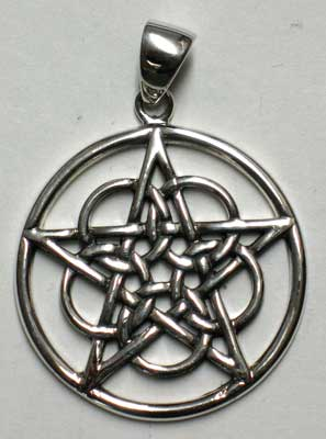 Woven Celtic Sterling Pentagram Pendant