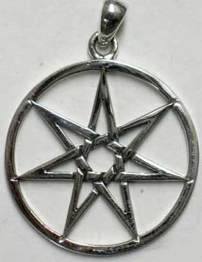 Fairy Elves Star Sterling Pendant