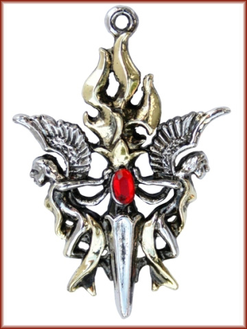 Keepers of the Sacred Flame Minerva & Vesta Protection Pendant