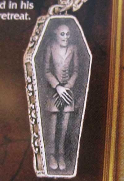 Alchemy Gothic Vampire Nosferatu Rest Coffin Pendant