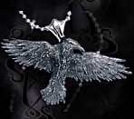 Alchemy Gothic Wiccan Raven Crow Necklace