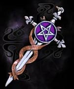 Alchemy Gothic Sword of Destiny Pentagram Pendant