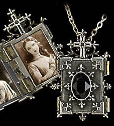 Alchemy Gothic Orthodox Icon Book Cross Locket