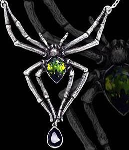 Alchemy Gothic Emerald Venom Large Spider Choker