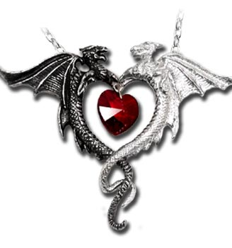 Alchemy gothic coeur sauvage dragon heart pendant mozeypictures Gallery