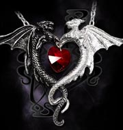 Alchemy Gothic Coeur Sauvage Dragon Heart Pendant