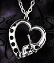 Mort de Coeur Skull Death Heart Pendant