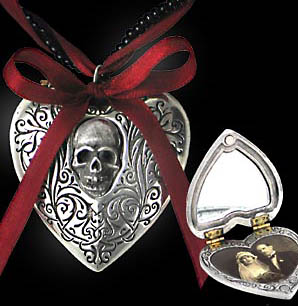 Alchemy Gothic Reliquary Skull Heart Love Poem Locket