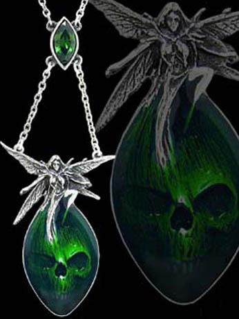 Alchemy Gothic Wormwood Absinthe Fairy Jewel Pendant
