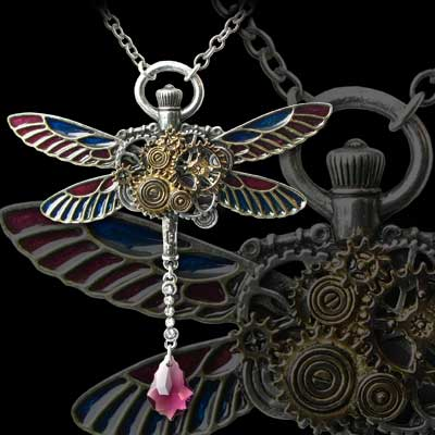 Alchemy Gothic Clockwork Darter Pendant
