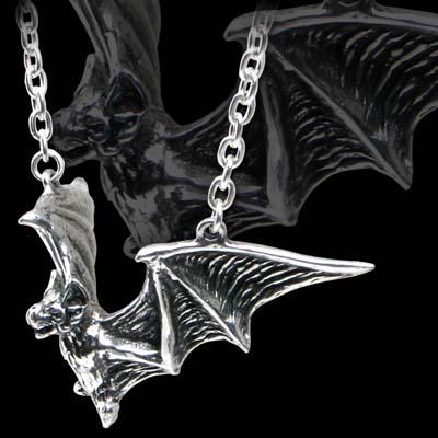 Alchemy Gothic Om Strygia Bat Pendant
