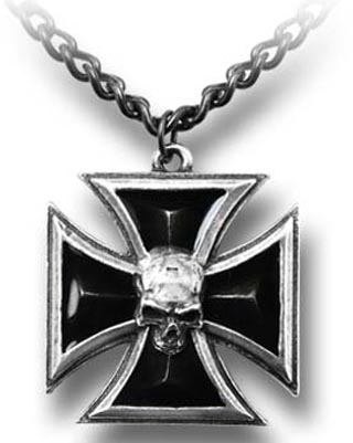 Alchemy Gothic Black Knight's Cross Necklace