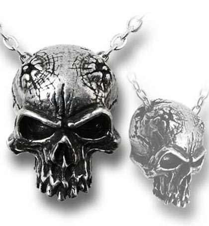 Alchemy Gothic Birth of a Demon Skull Necklace
