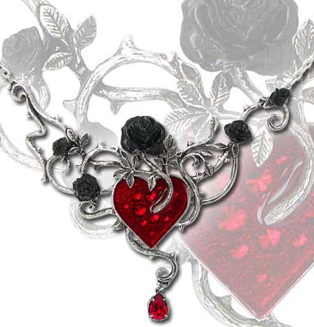 Alchemy Gothic Bed of Blood Roses Necklace