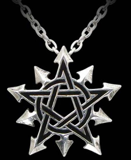 Alchemy Gothic Chaosagram Pentagram Pendant