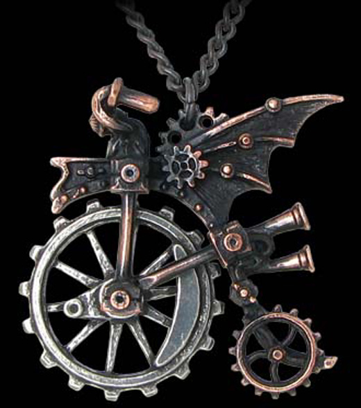 Alchemy Gothic Ventus Traction Farthing Necklace