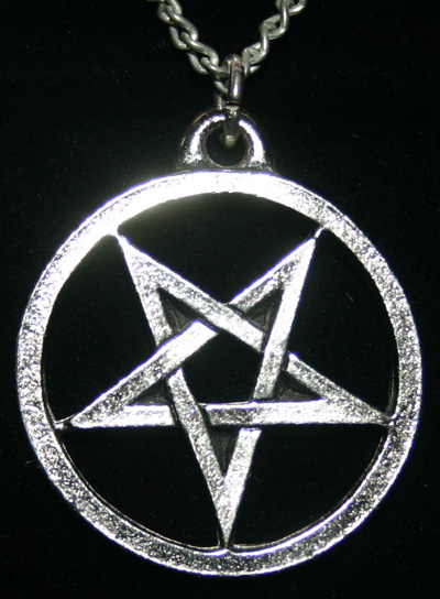Devil's Goat Silver Inverted Pentagram Pendant