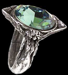 Alchemy Gothic Absinthe Fairy Spirit Crystal Ring