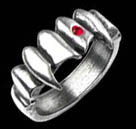 Alchemy Gothic Vamp Fangs Crystal Ring