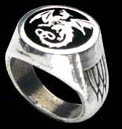 Alchemy Gothic Wyverex Dragon Signet Ring