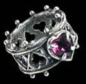 Alchemy Gothic Lord Dudley Elizabethan Crystal Ring