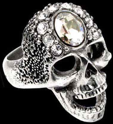 Alchemy Gothic Victoria's Skull Ring