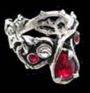 Alchemy Gothic Passion Blood Crystal Ring