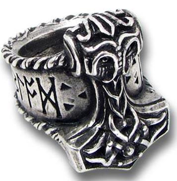 Alchemy Gothic Thor's Runehammer Ring