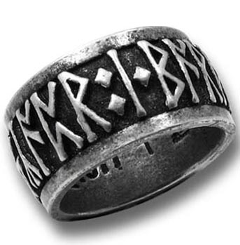 Alchemy Gothic Viking Rune Band Ring