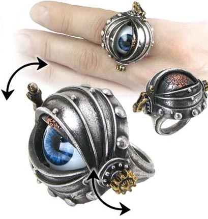 Alchemy Gothic Steampunk Automaton's Eye Ring