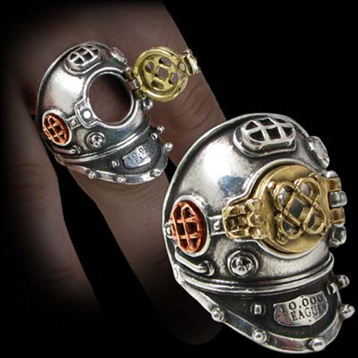 Alchemy Gothic Steampunk 700 Fathoms Ring