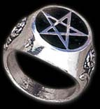 Alchemy Gothic Roseus Pentagram Ring