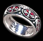 Alchemy Gothic Vampire Pugin Cross Revival Band Ring