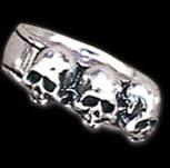 Alchemy Gothic Caput Mortem Skull Ring