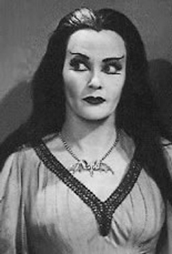 Lily Munster Bat Necklace Reproduction