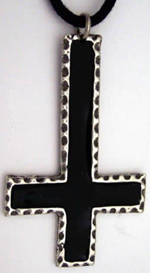 Satanic Occult Black Inverted Cross Pendant