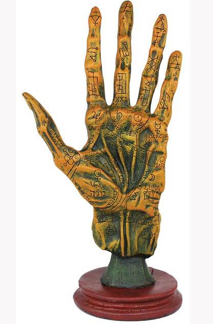 Alchemy Palmistry Hand Zombie Corpse Altar Statue