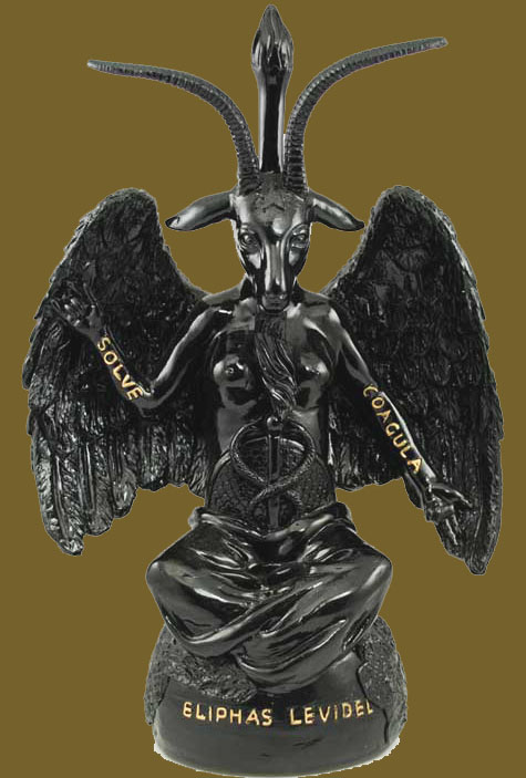 Satan Occult Black Finish 12 inch Baphomet Statue