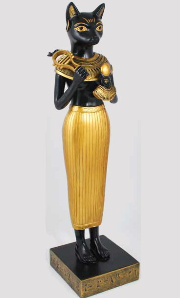 Cat Headed Egyptian Goddess Bastet Statue