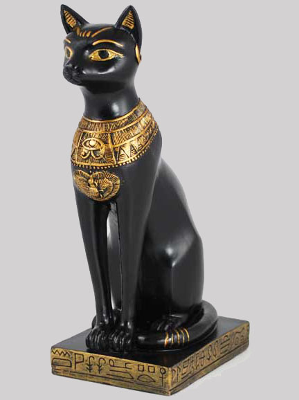 Bastet Egyptian Cat Eye of Horus Statue