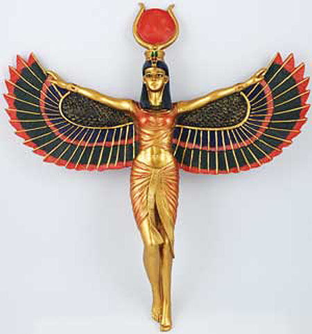 Open Wing Large Goddess Isis Wall Hanging
