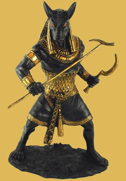 Egyptian Warrior Beast Seth Statue for Altar
