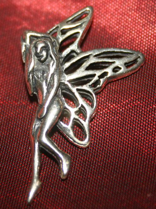 Sterling Silver Fairy Diva Goddess Pendant