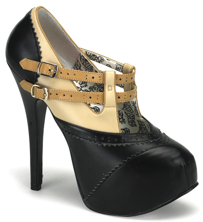 "Black Beige 6"" Burlesque Heels"