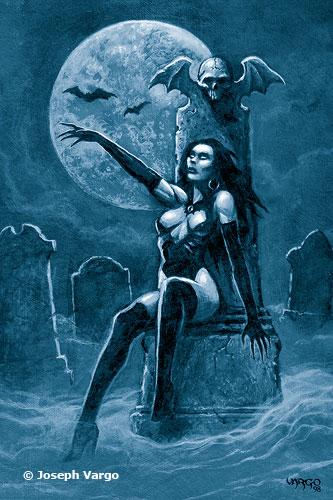 Monolith Graphics Gothic Postcard Vamp