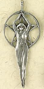 Pentacle of The Goddess Large Pendant